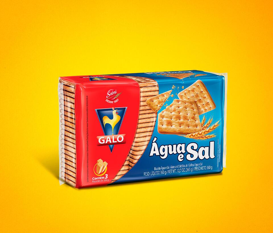 Biscoito Laminado Galo Água e Sal