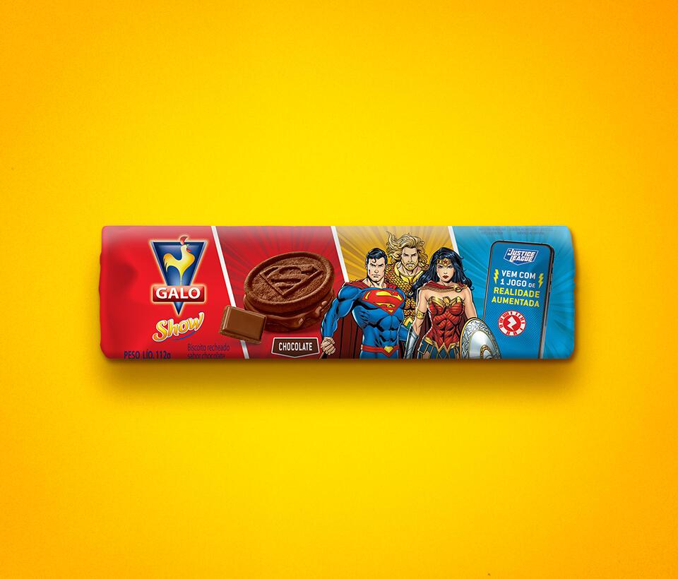 Biscoito Recheado Galo Show Chocolate