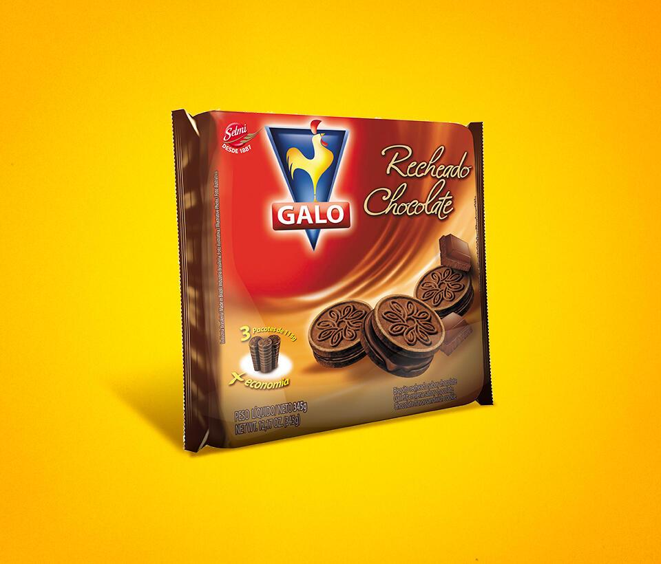 Biscoito Recheado Galo Chocolate