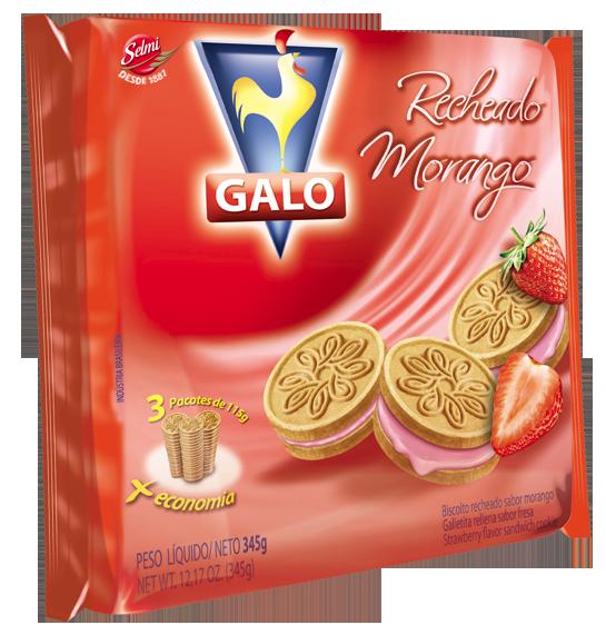 Biscoito Recheado Galo Morango