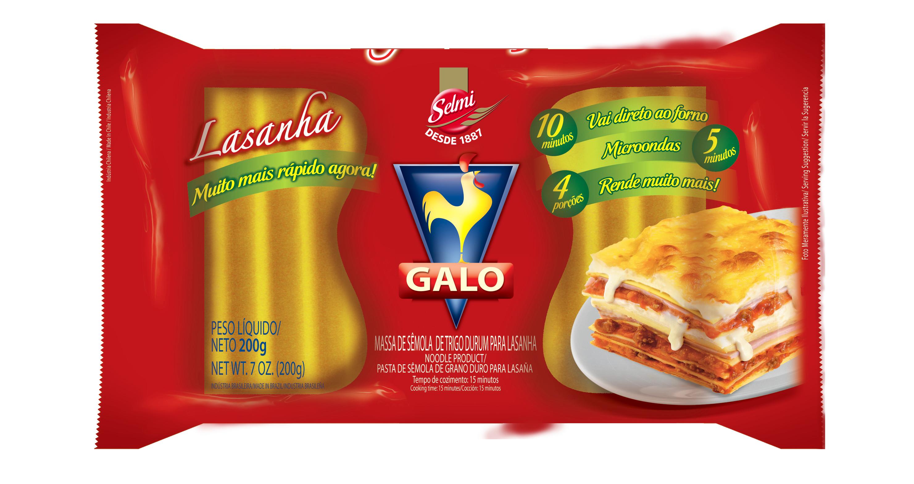Macarrão Galo Sêmola Lasanha - 200 g