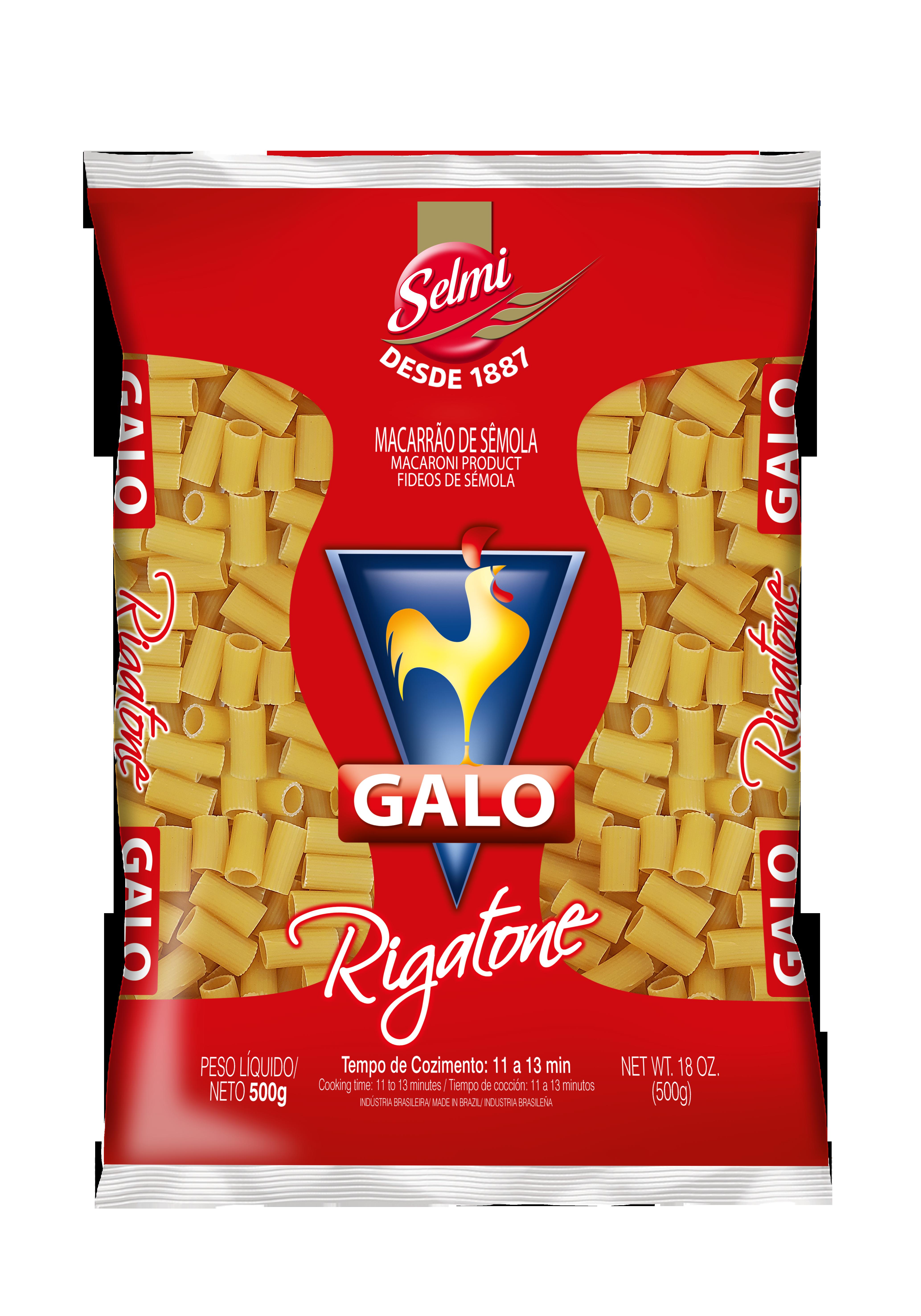 Macarrão Galo Sêmola Rigatone