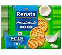 Biscoito Renata Amanteigado Coco - 133 g e 330 g