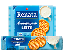 Biscoito Renata Amanteigado Leite - 133 g e 330 g