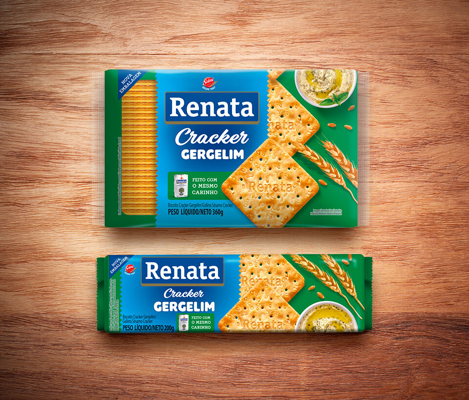 Biscoito Renata Laminado Gergelim - 200 g e 360 g