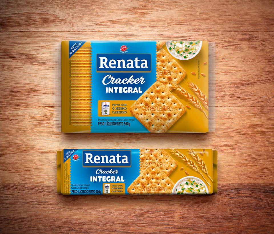 Biscoito Renata Laminado Cracker Integral - 200 g e 360 g