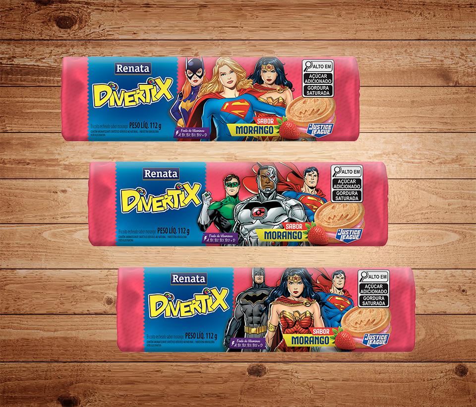 Biscoito Renata Divertix Morango