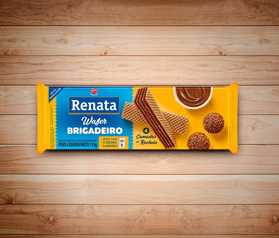 Biscoito Renata Wafer Brigadeiro