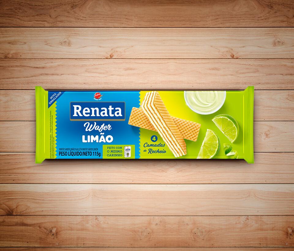 Biscoito Renata Wafer Limão