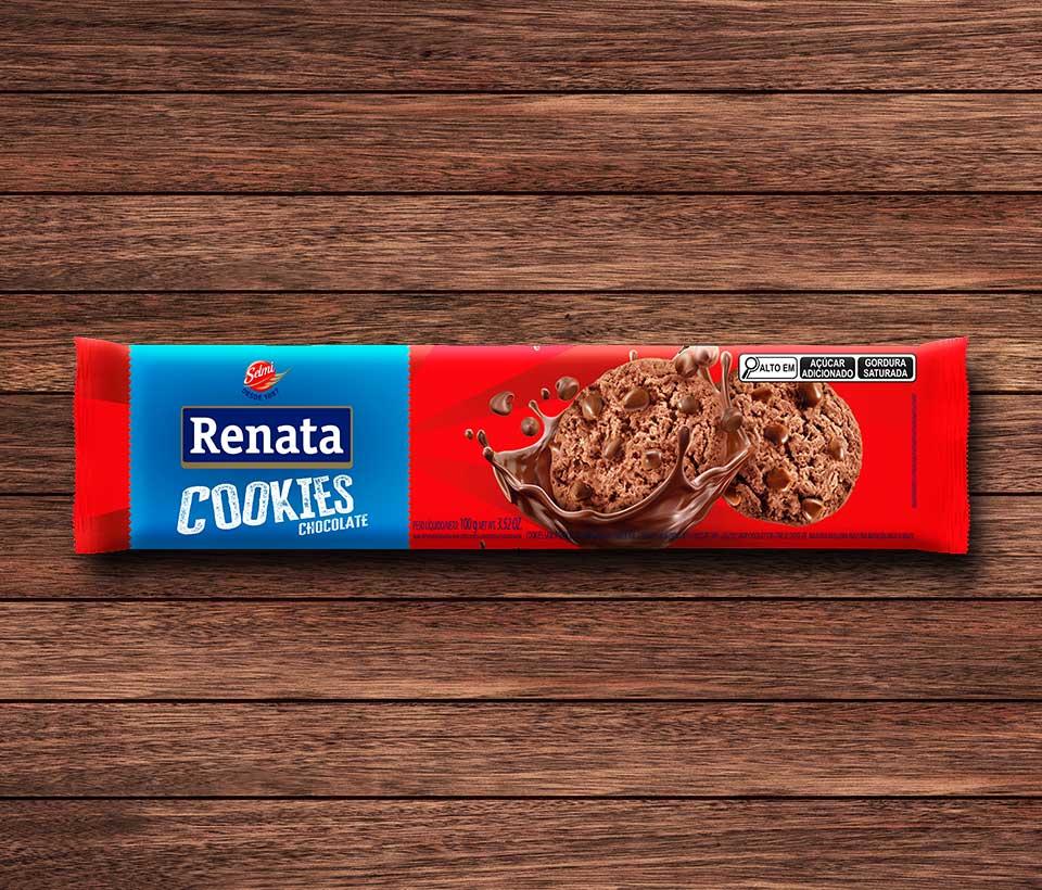 Cookies Renata sabor Chocolate Com Gotas de Chocolate - 100g